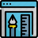 application, artwork, design, graphic, interface, paper, tool icon