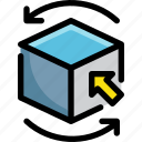 cube, design, graphic, rotate, shape, tool icon
