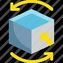 box, cube, design, graphic, rotate, shape, size icon