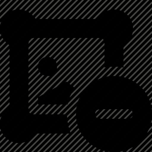 design, graphic, picture, remove icon