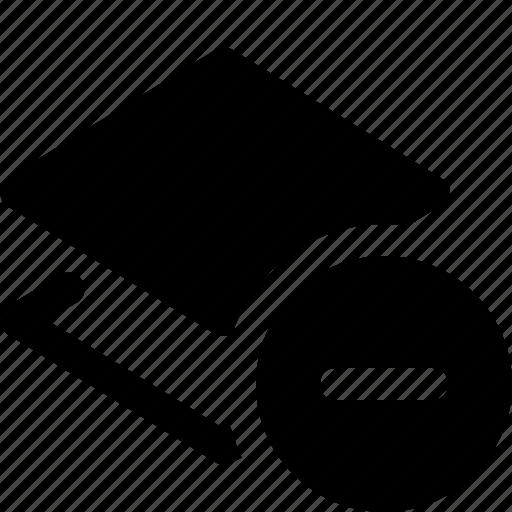delete, design, graphic, layer, layers, remove icon