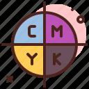 cmyk, design, illustration, tool icon