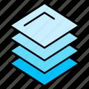 editor, graphic, illustration, interface, layers icon