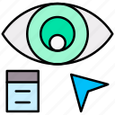 art, design, eye, look, view