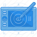digital, electronic, illustration, sketch icon