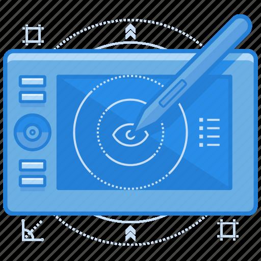 digital, electronic, illustration, sketch icon