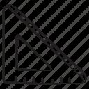 ruler, geometry, triangular scale, stationery, triangular, architect scale, scale icon