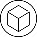 3d, cube, shape, design, three dimensional, graphic, tool