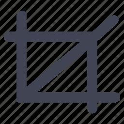 crop, design, edit, graphic, tools icon