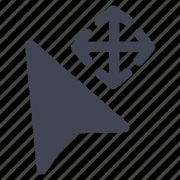 cursor, design, graphic, move, tools icon