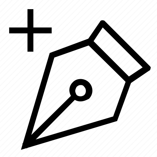 add, anchor, pen icon