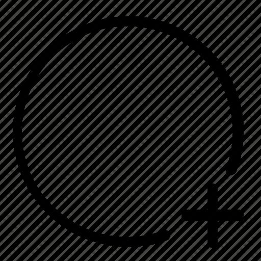 add, circle, new, path icon