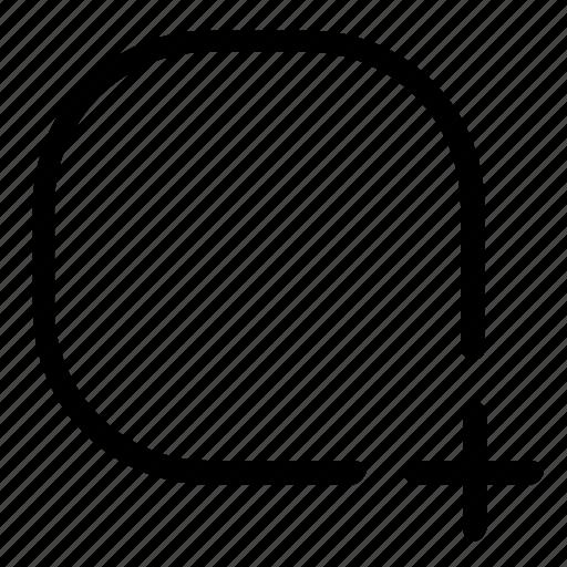add, new, shape icon