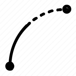 arc, draw, line icon