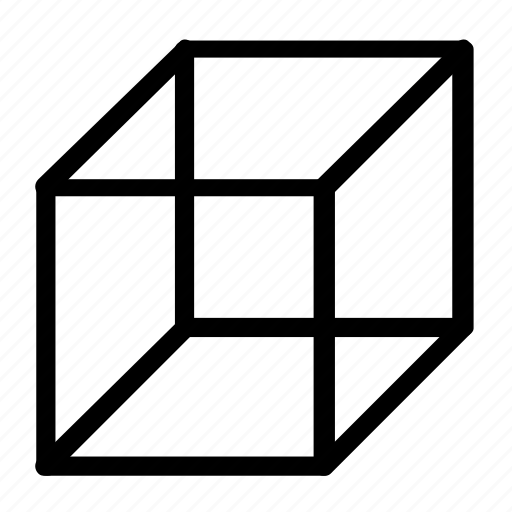 cube, dimensional, shape icon