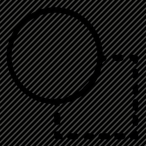 circle, draw, shape, square icon