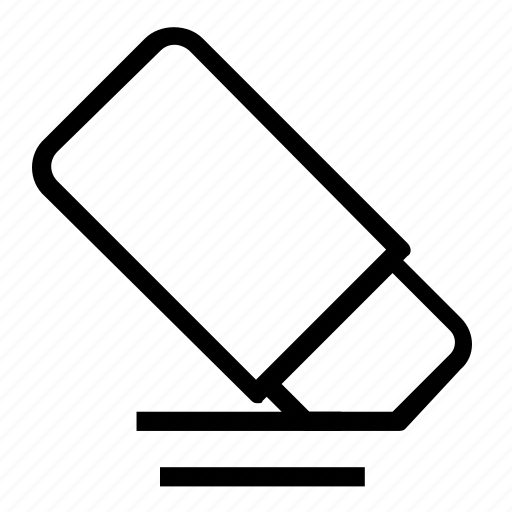 erase, eraser, remove icon