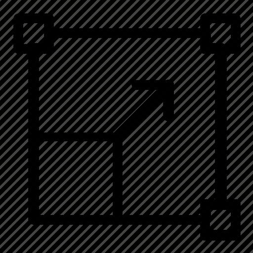 enlarge, expand, resize icon
