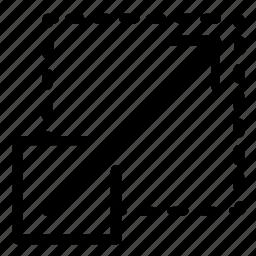 arrow, expand, resize icon