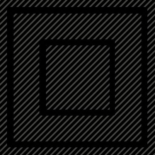 frame, square icon
