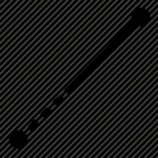 line, path, segment icon
