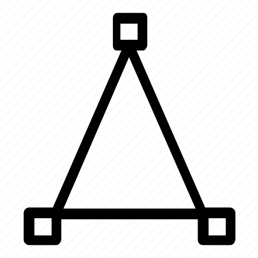 lines, path, triangle icon