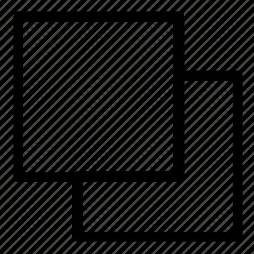 fill, overlap, stroke, trim icon