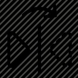 flip, reflect, right icon