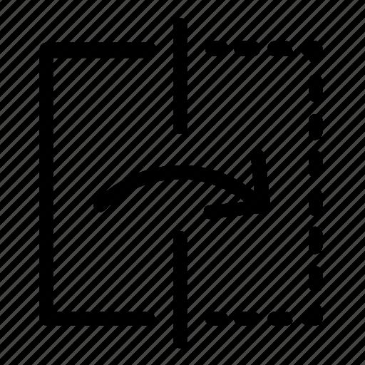 flip, mirror, reflect, right icon
