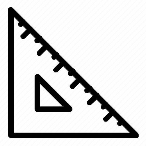 math, ruler, set square, triangle icon