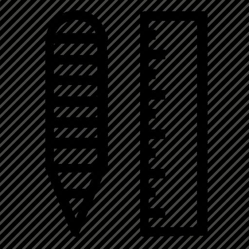 design, pencil, ruler icon