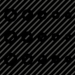 circle, selector icon
