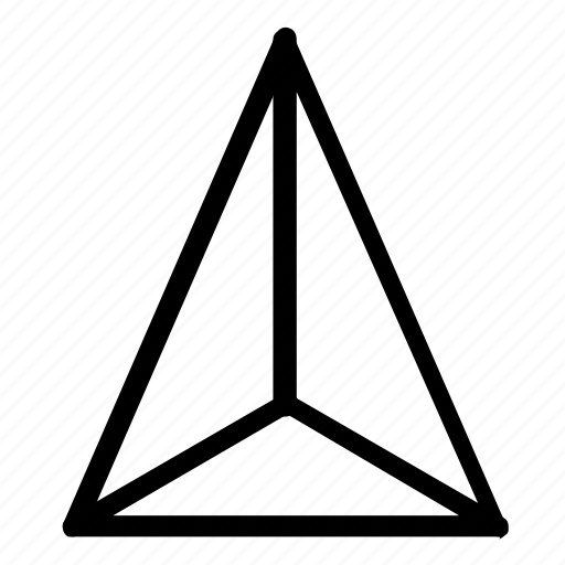 geometry, triangle icon