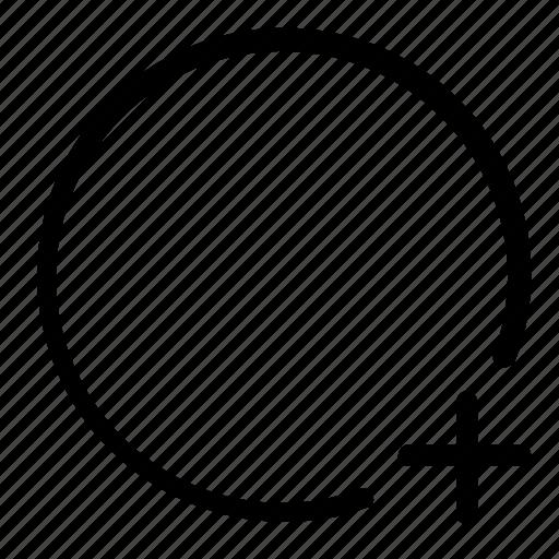 add, circle, new, shape icon