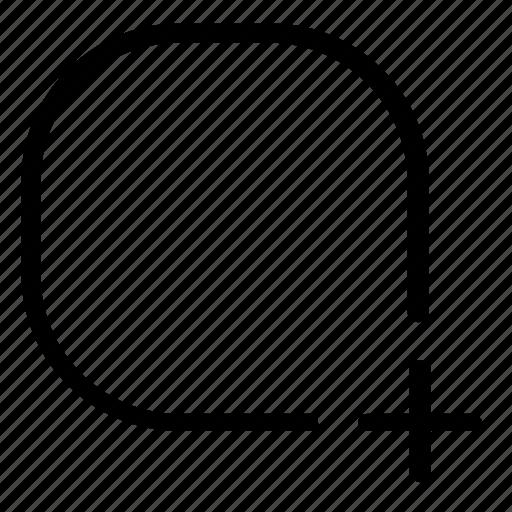add, rectangle, shape icon