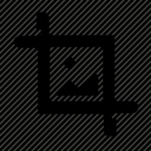 crop, cut, image icon