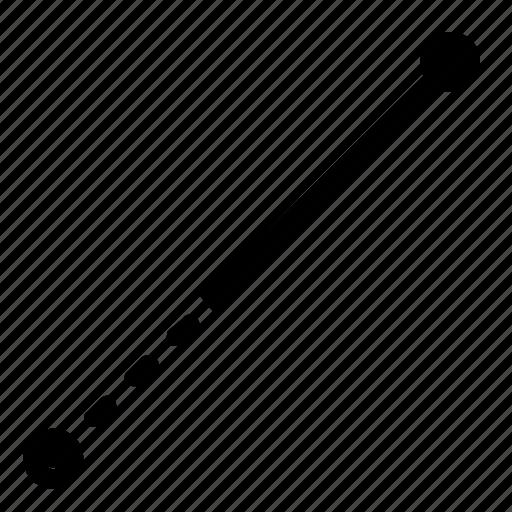 draw, line, segment icon