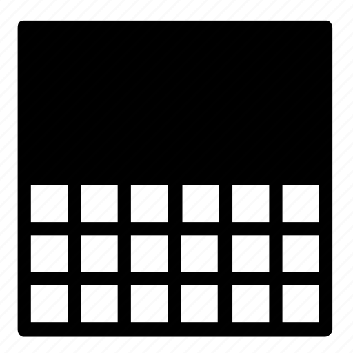 colour, grid, rectangular icon