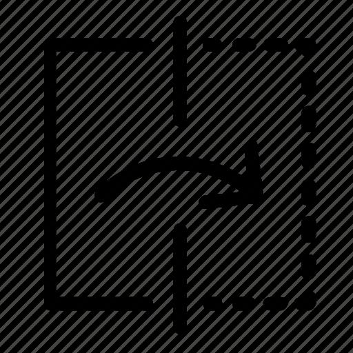 arrow, reflect, right icon