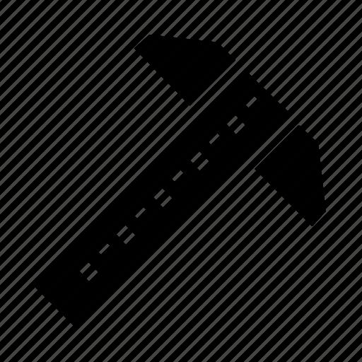 architecture, measure, ruler icon