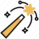 graphic, magic, stick, tool, wand icon