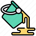 bucket, color, container, liquid, paint icon
