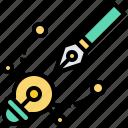 bulb, design, pen, shape, vector