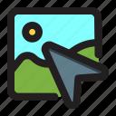 arrow, direction, pointer