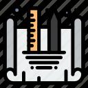 blueprint, creating, design, designing icon