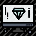 computer, design, diamond, page icon