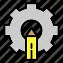 cog, edit, gear, pencil, setting icon