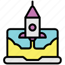 business and finance, launch, rocket, startup icon