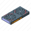component, card, isometric