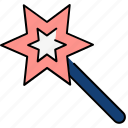 magic, magic wand, magician, stick, wand, wizard icon